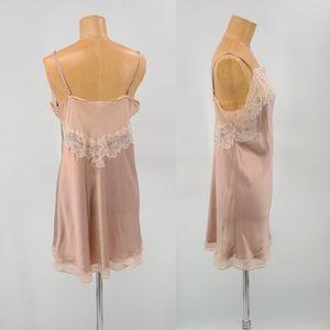 Victoria's Secret Angles Pure Silk Slip Lace Dress